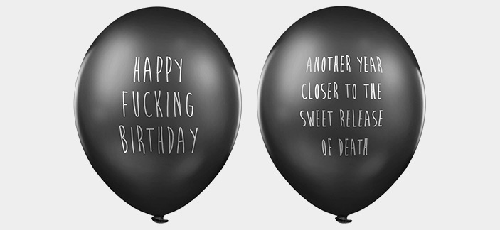 Rude birthday balloons