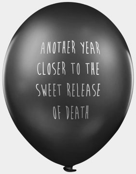 'Another Year Closer' Balloons
