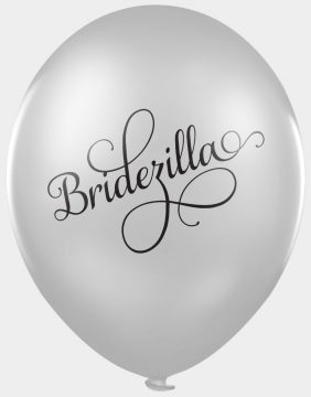 Bridezilla - funny wedding balloons for photobooths