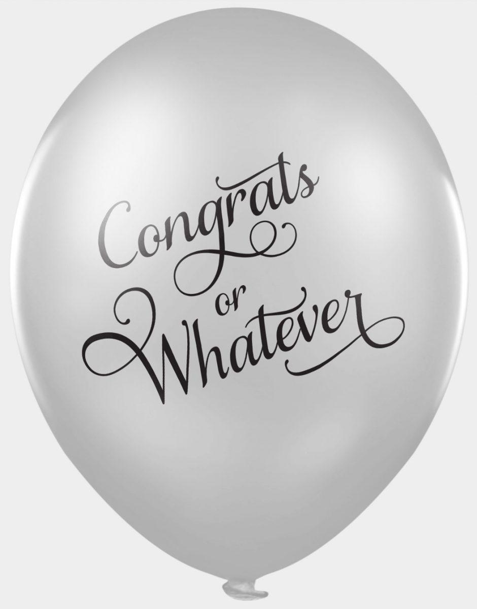 Funny wedding balloons - congrats or whatever